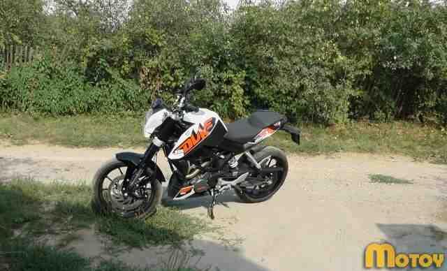 Новый мотоцикл KTM Дюк 200 ABC