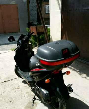 Скутер - JJ50Q-22-B08 (Race), шлем модуляр трансфо