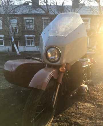 Продается мотоцикл Урал с люлькой б/у