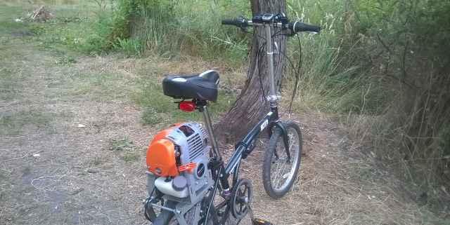 Мотовелосипед складной