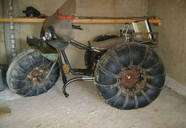 Карокат на шинах низкого давления
